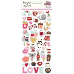 Stickers Relief- Simple Stories - Sweet Talk