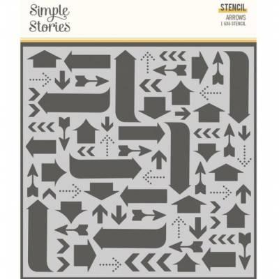 Stencil - Simple Stories - Arrows - Flèches
