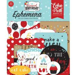 Die Cuts - Echo Park - Magic Birthday - Boy Ephemera