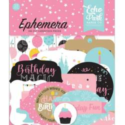 Die Cuts - Echo Park - Magic Birthday - Girl Ephemera