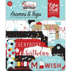 Die Cuts - Echo Park - Magical Birthday - Boy Frames & Tags