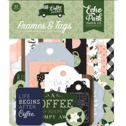 Die Cuts - Echo Park - Coffee & Friends Frames & Tags