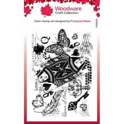 Tampons - Woodware - Dame de coeur