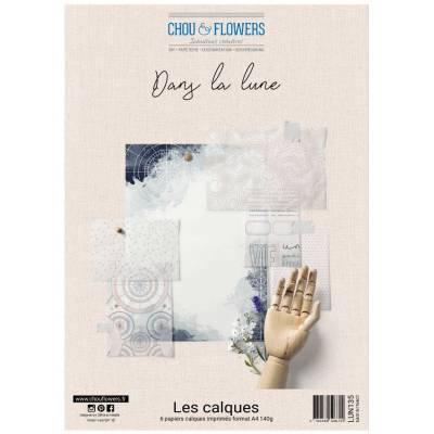 Pack Calques A4 - Chou & Flowers - Dans la lune
