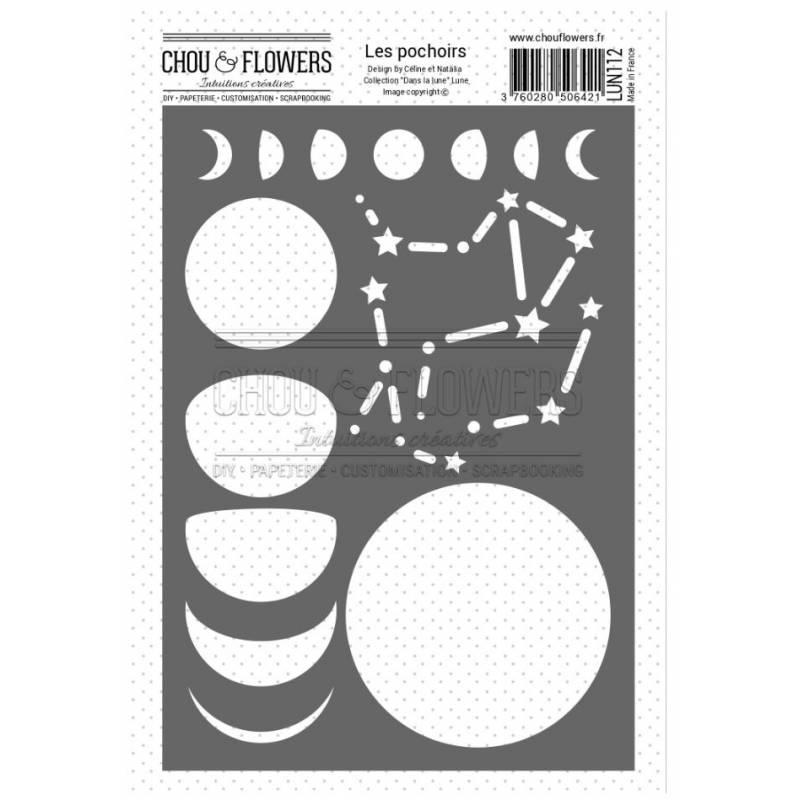Pochoir - Chou & Flowers - Lune