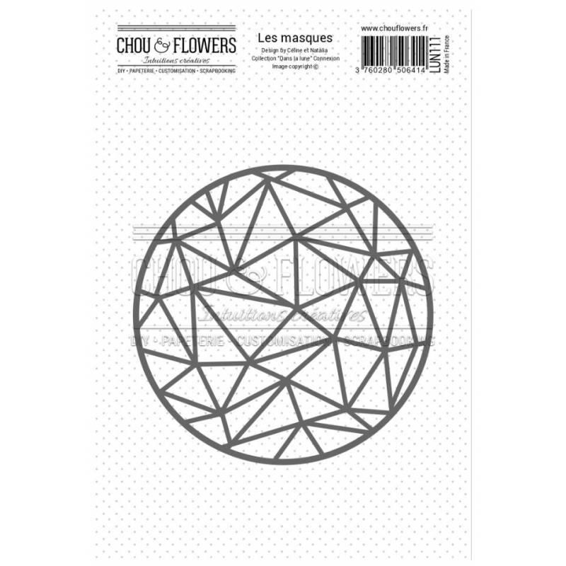 Pochoir - Chou & Flowers - Masque Rond Connexion