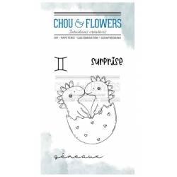 Tampons Clear - Chou & Flowers - Doudou Gémeaux