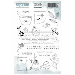 Tampons Clear - Chou & Flowers - Plantes magiques