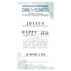 Tampons Clear - Chou & Flowers - Un petit cadeau