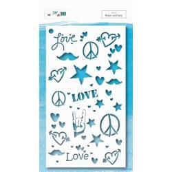 Pochoir - DIY & Cie - Peace & Love