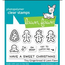 Tampons clear Lawn Fawn - Tiny Gingerbread