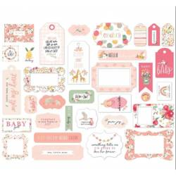 Die Cuts - Echo Park - Frames & Tags - Welcome Baby Girl