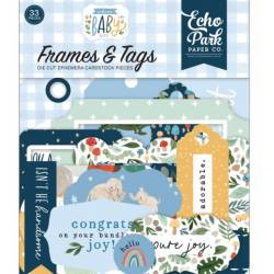 Die Cuts - Echo Park - Frames & Tags - Welcome Baby Boy