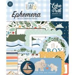 Die Cuts - Echo Park - Ephemera - Welcome Baby Boy
