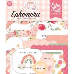 Die Cuts - Echo Park - Ephemera - Welcome Baby Girl