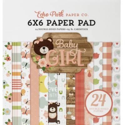 Pack Papier 15.2 x 15.2 - Echo park - Baby Girl