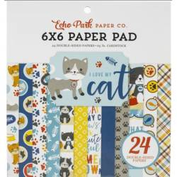 Pack Papier 15.2 x 15.2 - Echo park - I love my cat