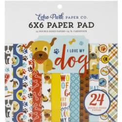 Pack Papier 15.2 x 15.2 - Echo park - - I love my dog