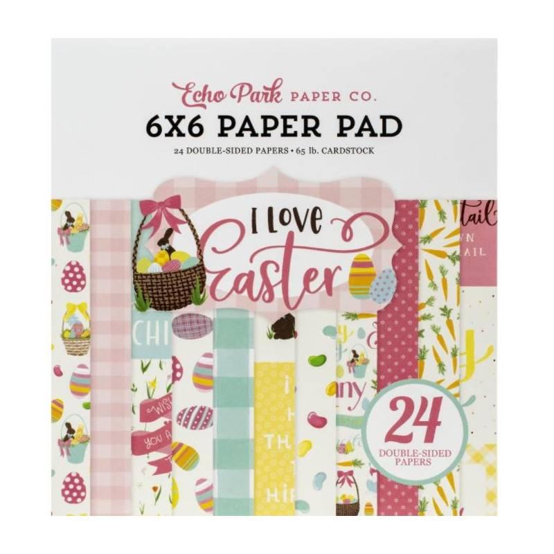 Pack Papier 15.2 x 15.2 - Echo park - I love Easter