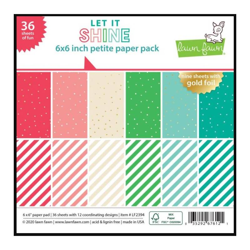 Pack Papier 15.2 x 15.2 - Lawn fawn - Let it shine