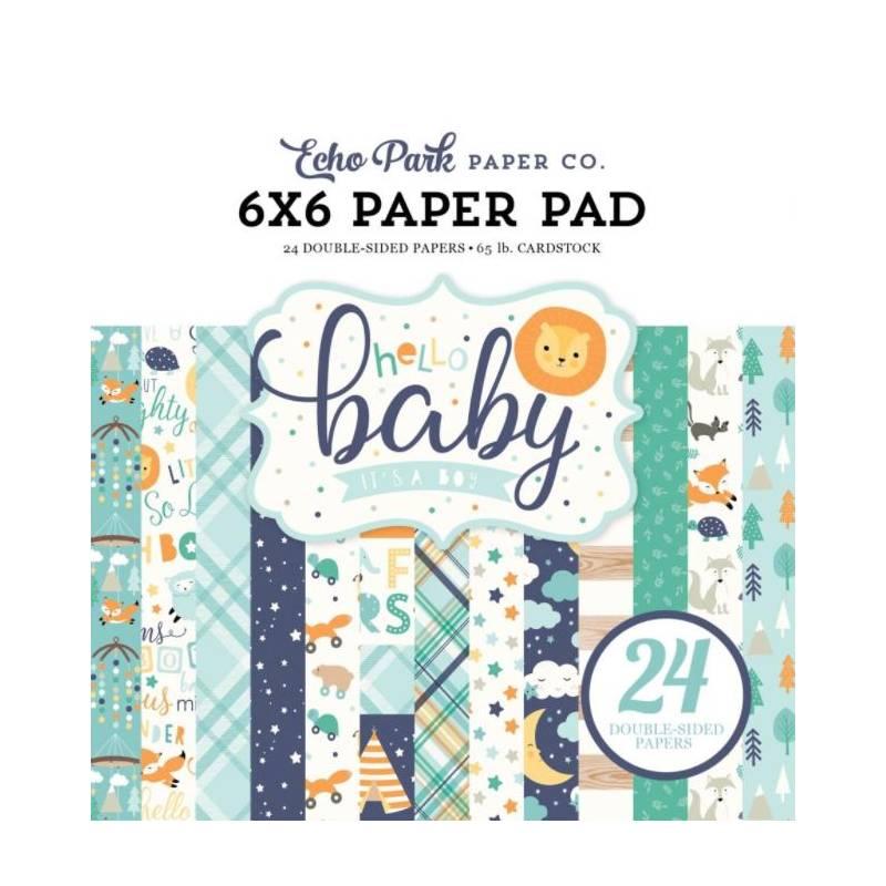 Pack Papier 15.2 x 15.2 - Echo park - Hello Baby