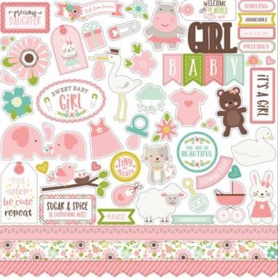 Stickers 30.5 x 30.5 - Echo Park - Sweet Baby Girl