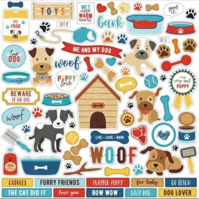 Stickers 30.5 x 30.5 - Echo Park - I love my dog