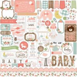 Stickers 30.5 x 30.5 - Echo Park - Baby Girl