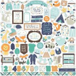 Stickers 30.5 x 30.5 - Echo Park - Hello Baby Boy