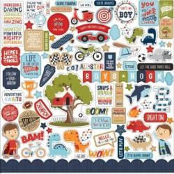 Stickers 30.5 x 30.5 - Echo Park - All Boy