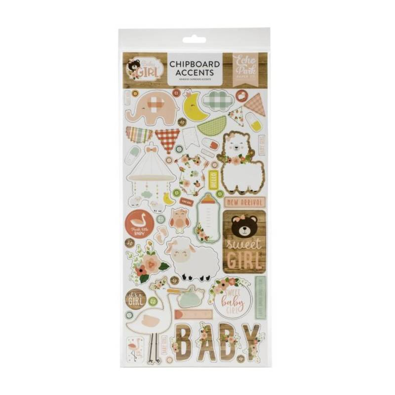 Chipboard sticker - Echo Park - Accents Baby Girl