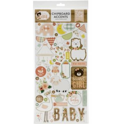 Chipboard sticker - Echo Park - Accents Baby Girl