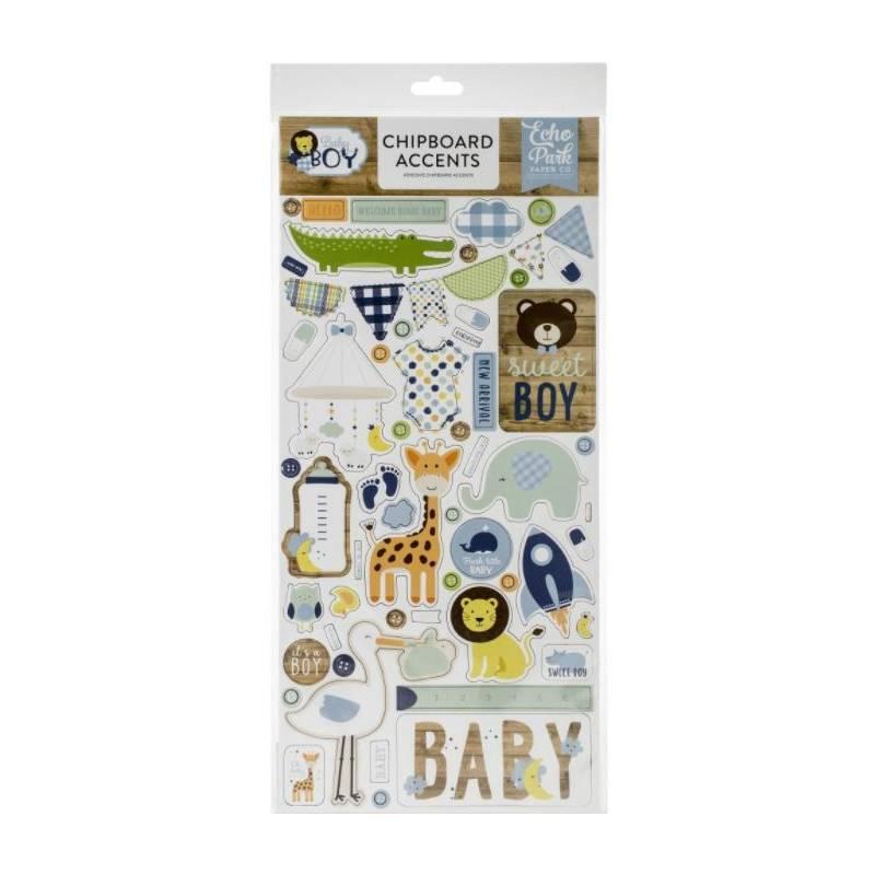 Chipboard sticker - Echo Park - Accents Baby Boy