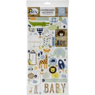Chipboard sticker - Echo Park - Accents Baby Boy