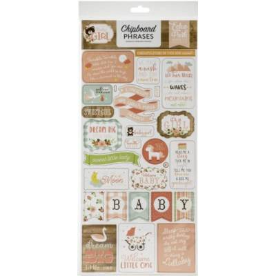 Chipboard sticker - Echo Park - Phrases Baby Girl