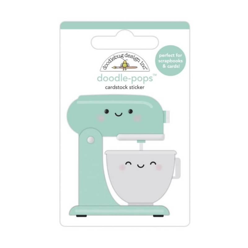 Stickers Relief- Doodlebug - Cuisine - Mélange d'amour