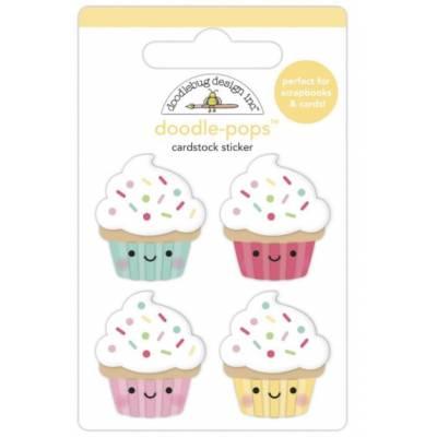 Stickers Relief- Doodlebug - Cuisine - Gâteaux