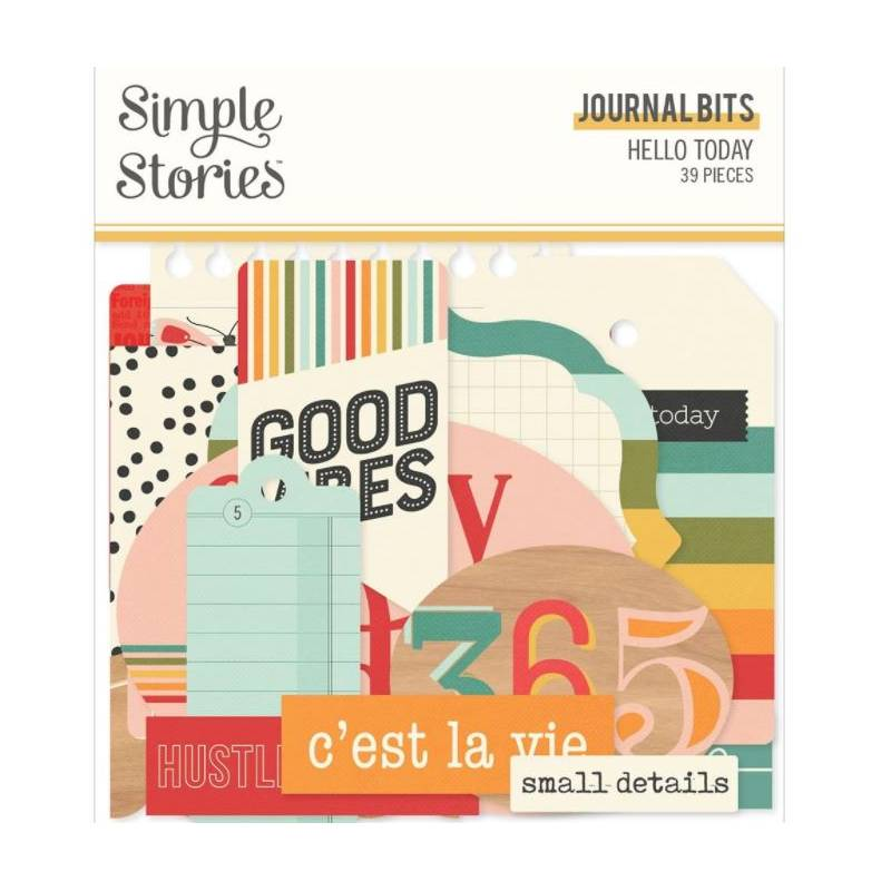 Die Cuts - Simple Stories - Journal - Hello Today