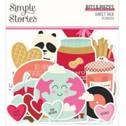 Die Cuts - Simple Stories - Pieces - Sweet Talk