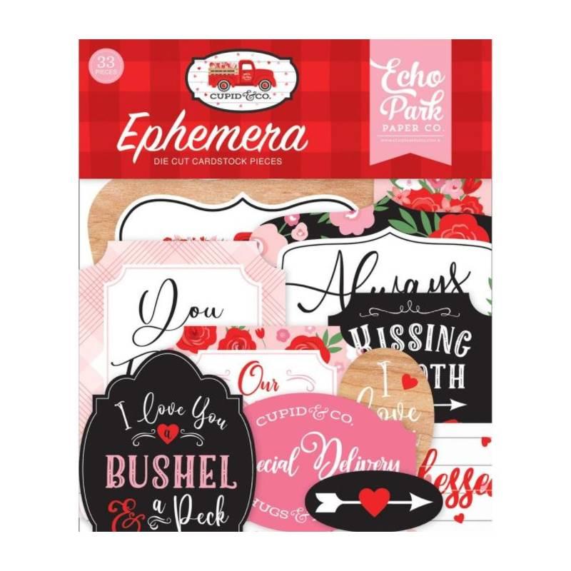 Die Cuts - Echo Park - Ephemera - Cupidon & Cie