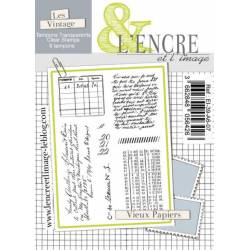 Tampons L'Encre & l'Image - Vieux Papiers