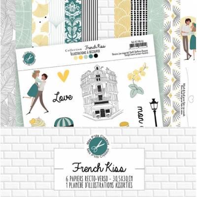 Pack Papier - Mes Ptits Ciseaux - Collection French Kiss