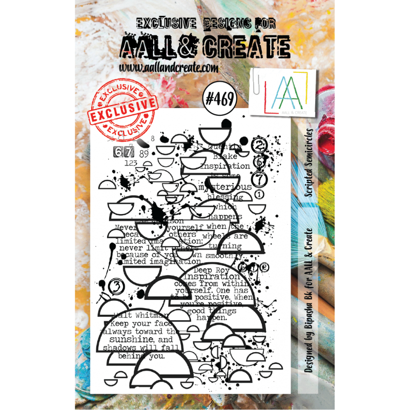 AALL & Create Stamp - 469 - Demi-ronds