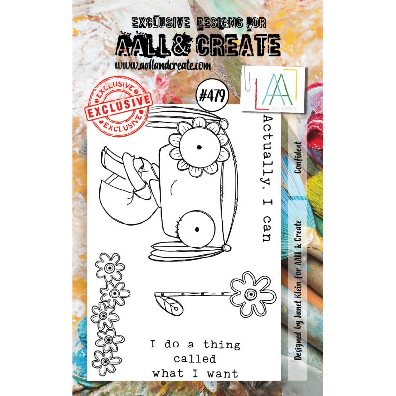AALL & Create Stamp - 479 - Clin d'oeil fleuri