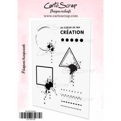 Tampons CartoScrap - Géométrique