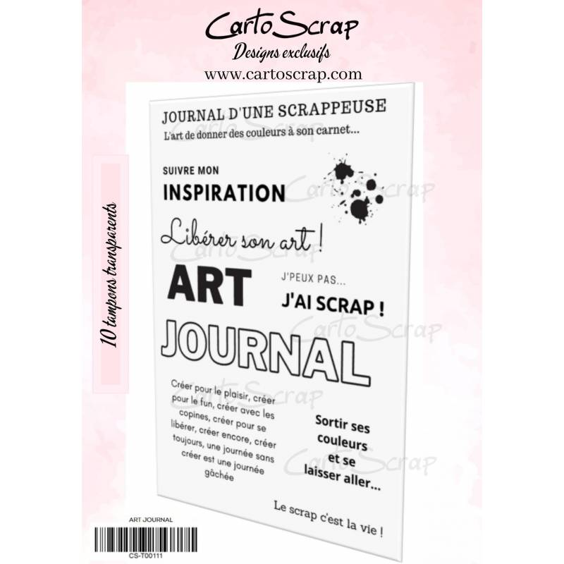 Tampons CartoScrap - Art Journal