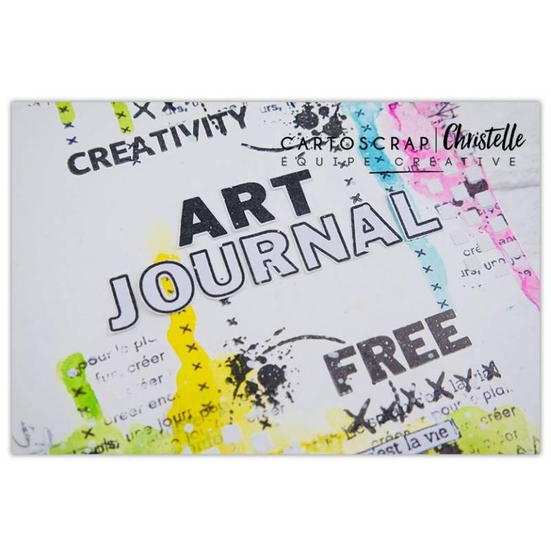 Page Art Journal par Christelle Bille - Tuto