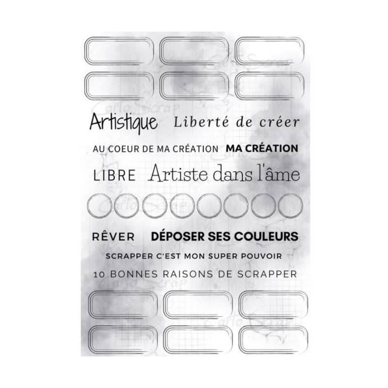 Étiquettes à découper Cartoscrap - Couleur du temps
