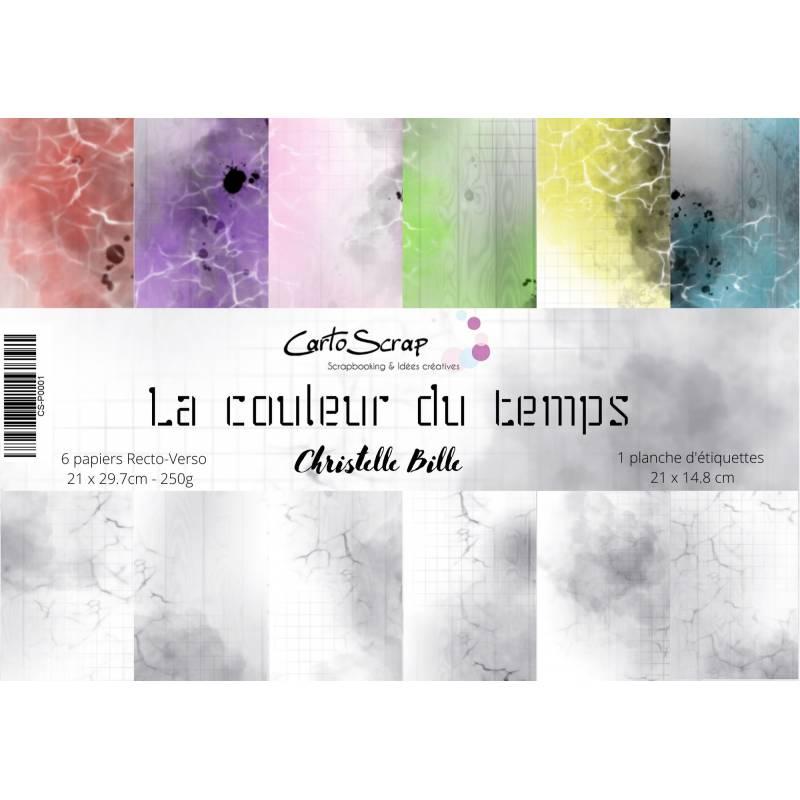 Pack Papier A4 - CartoScrap - La couleur du temps