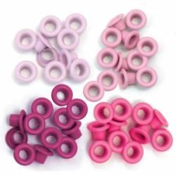 """Oeillets Standards 3/16"""" - Coloris Rose"""